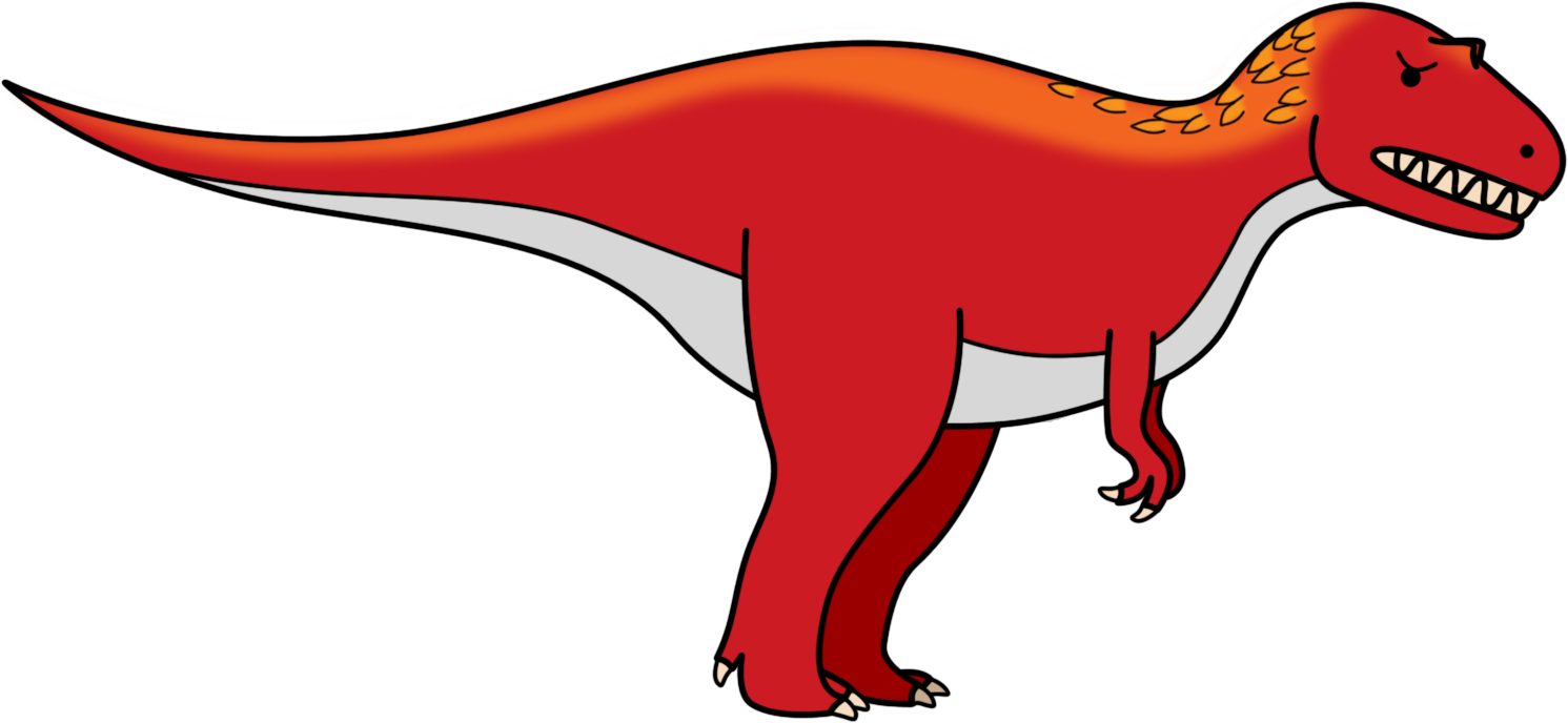 red clipart dinosaur #140576741