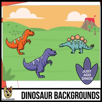 Outdoor background freebie . Dinosaur clipart scene