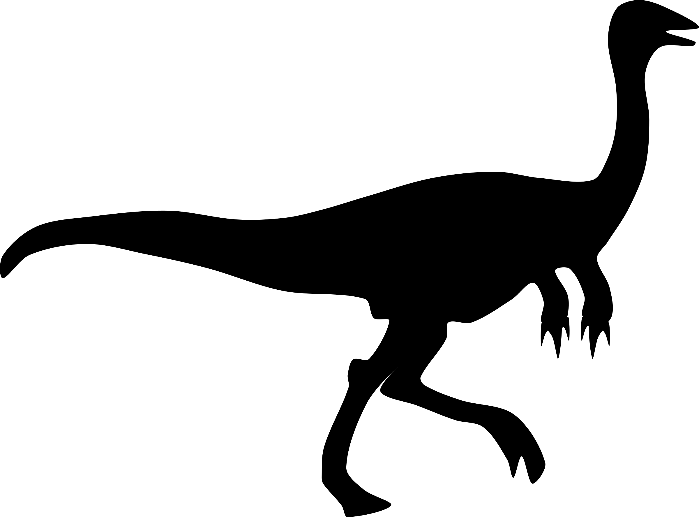 Gallimimus mois r big. Clipart dinosaur shadow