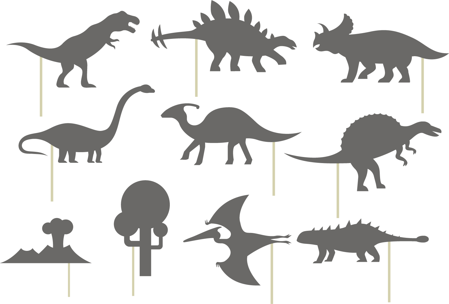Stegosaurus silhouette tyrannosaurus dinosaurs. Clipart dinosaur shadow