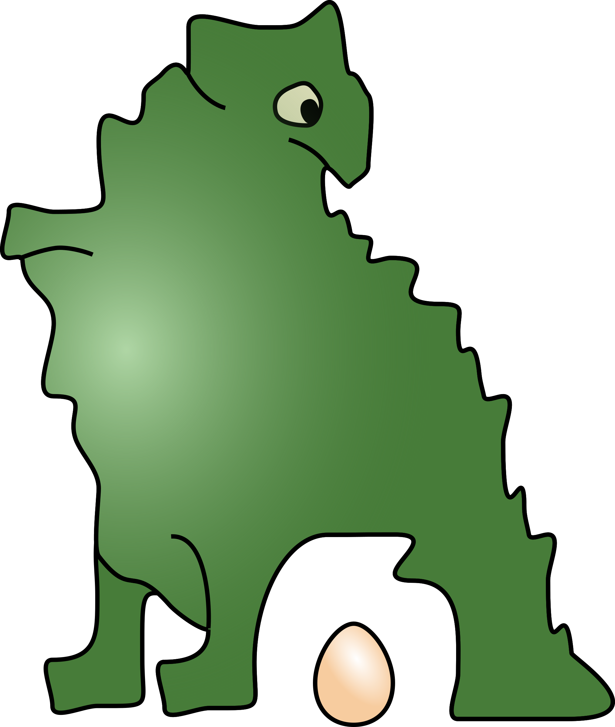 Eggs clipart cartoon. Dinosaur laid an egg