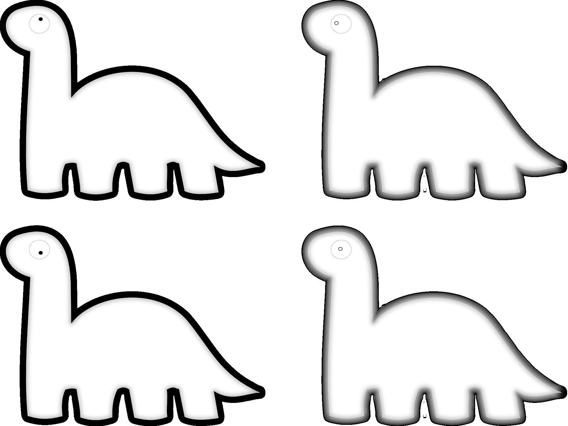 Black and white panda. Clipart dinosaur sign