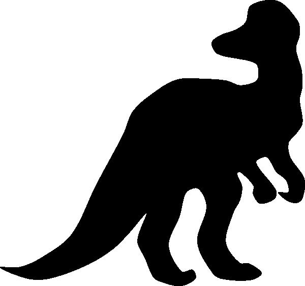 Corythosaurus silhouette clip art. Dinosaur clipart brown