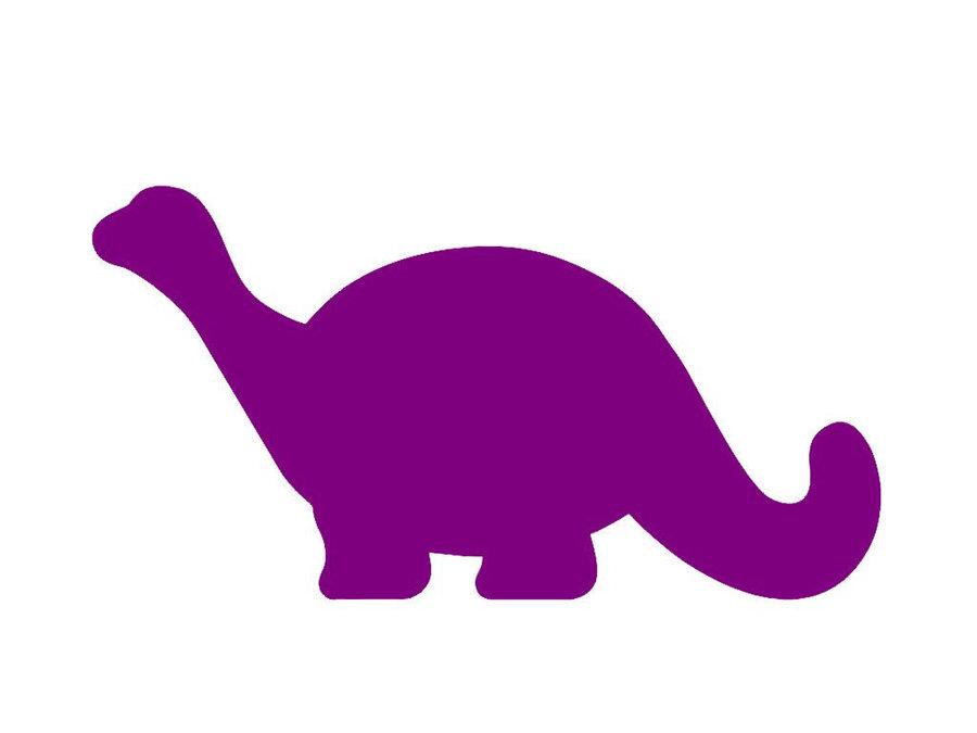 Clipart dinosaur simple. Silhouette purple pink line