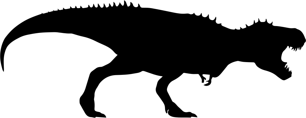 Trex clipart silhouette. Dinosaur at getdrawings com