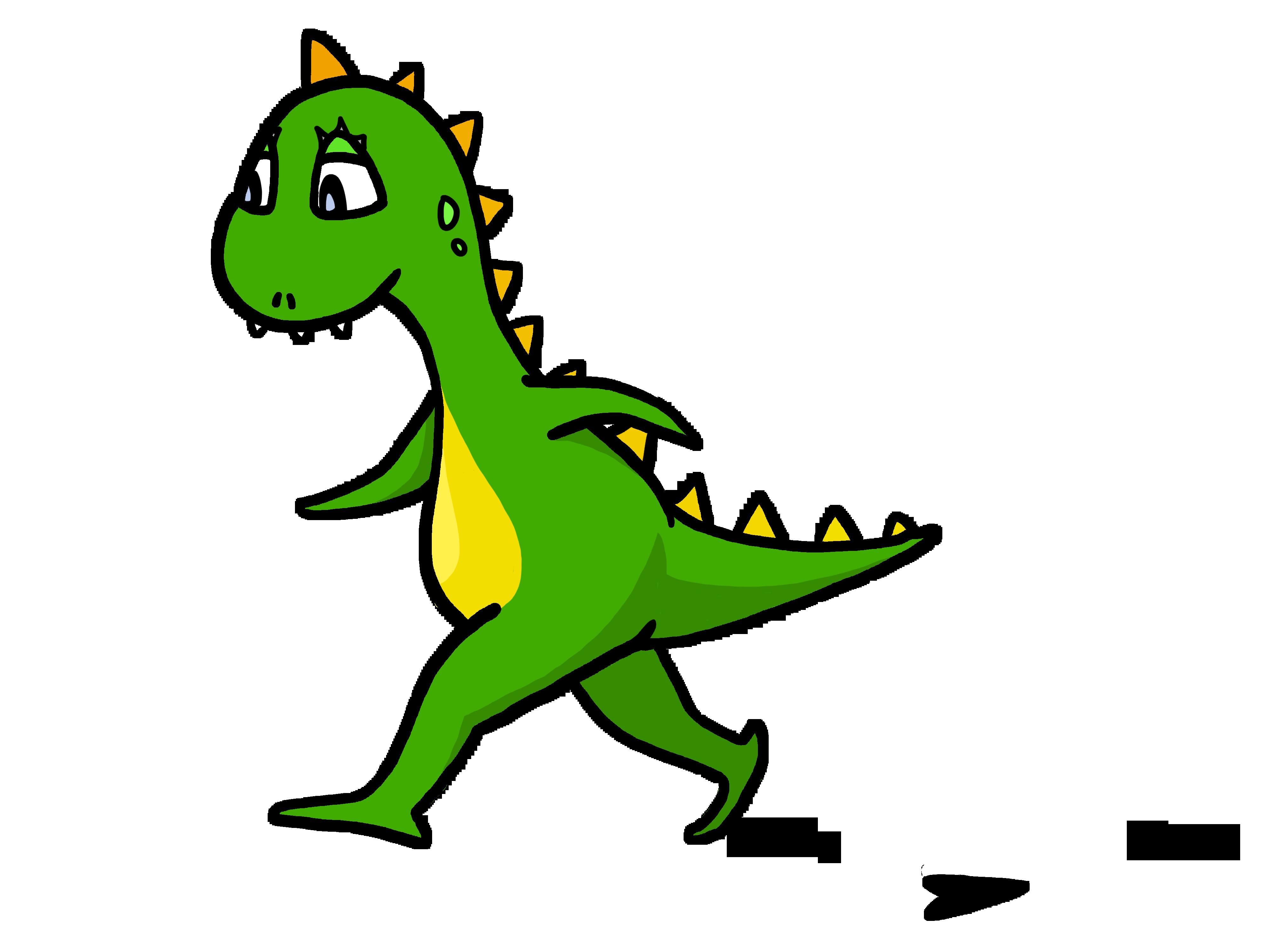 Funny dinosaur free image. Clipart walking walk in line