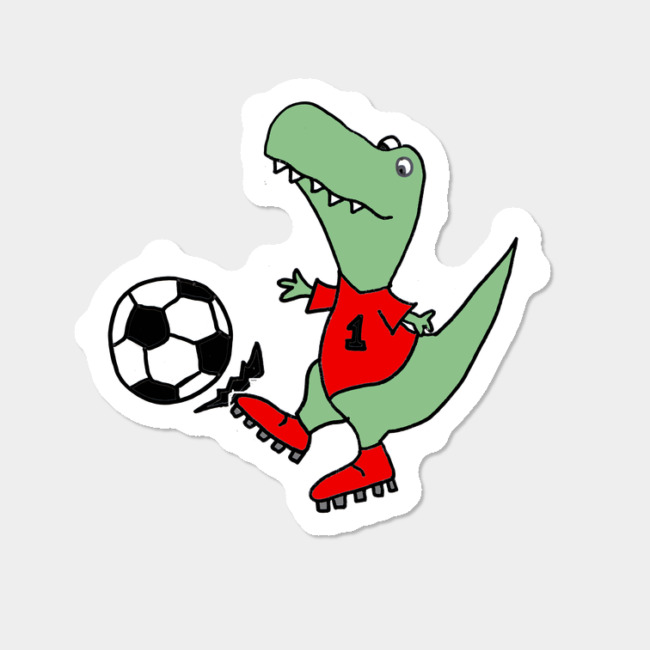 Funny t rex playing. Dinosaur clipart sport