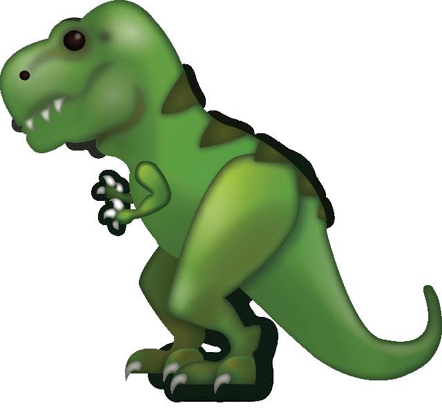 Green clipart t rex. Download tyrannosaurus iphone emoji
