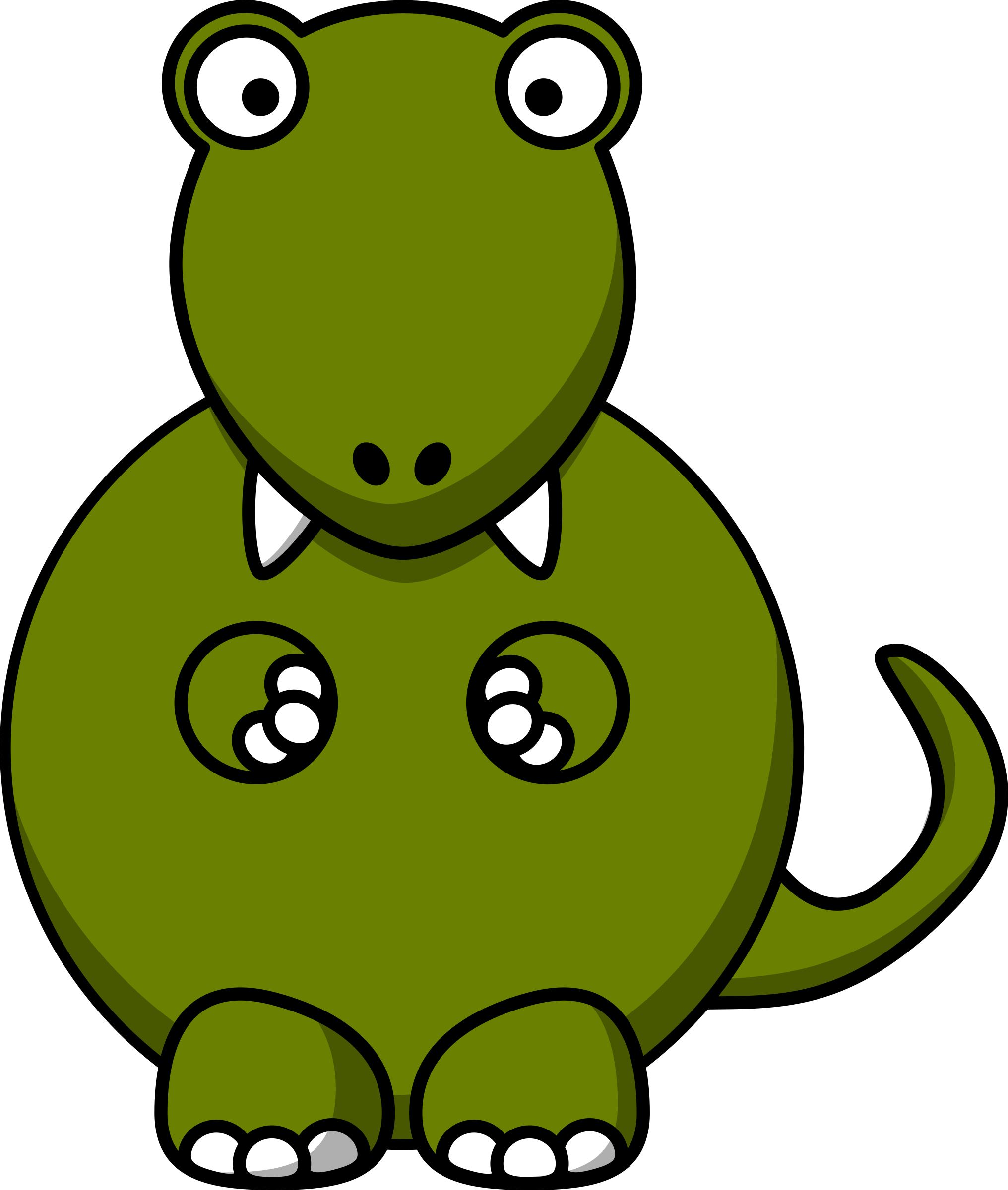 Cartoon tyrannosaurus big image. Green clipart t rex