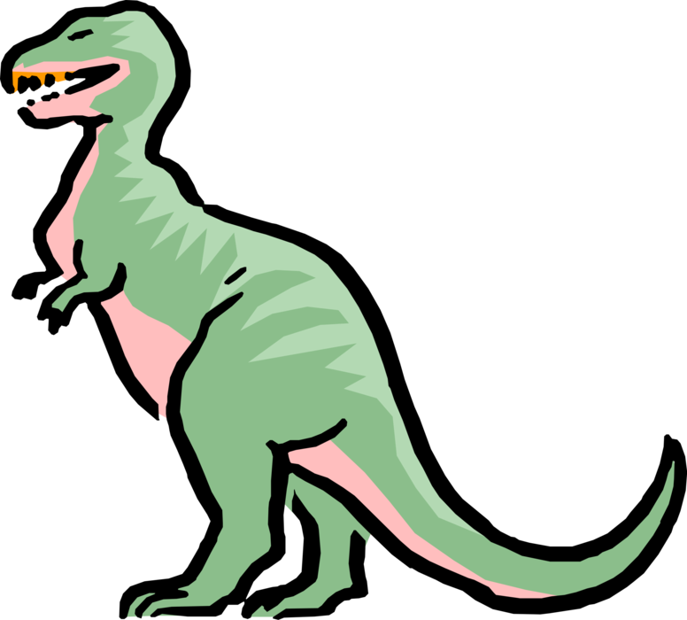 Cartoon tyrannosaurus rex image. Clipart dinosaur vector