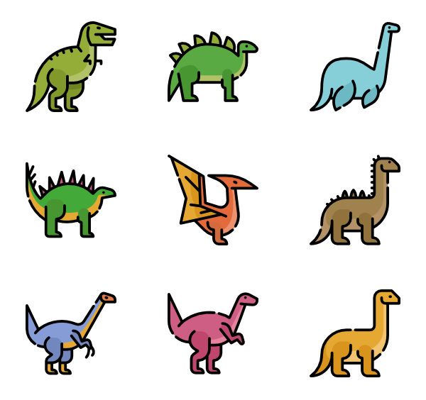Foods clipart dinosaur. Icons free vector dinosaurs