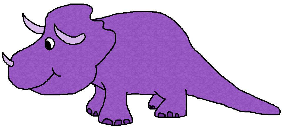 dinosaur clipart purple
