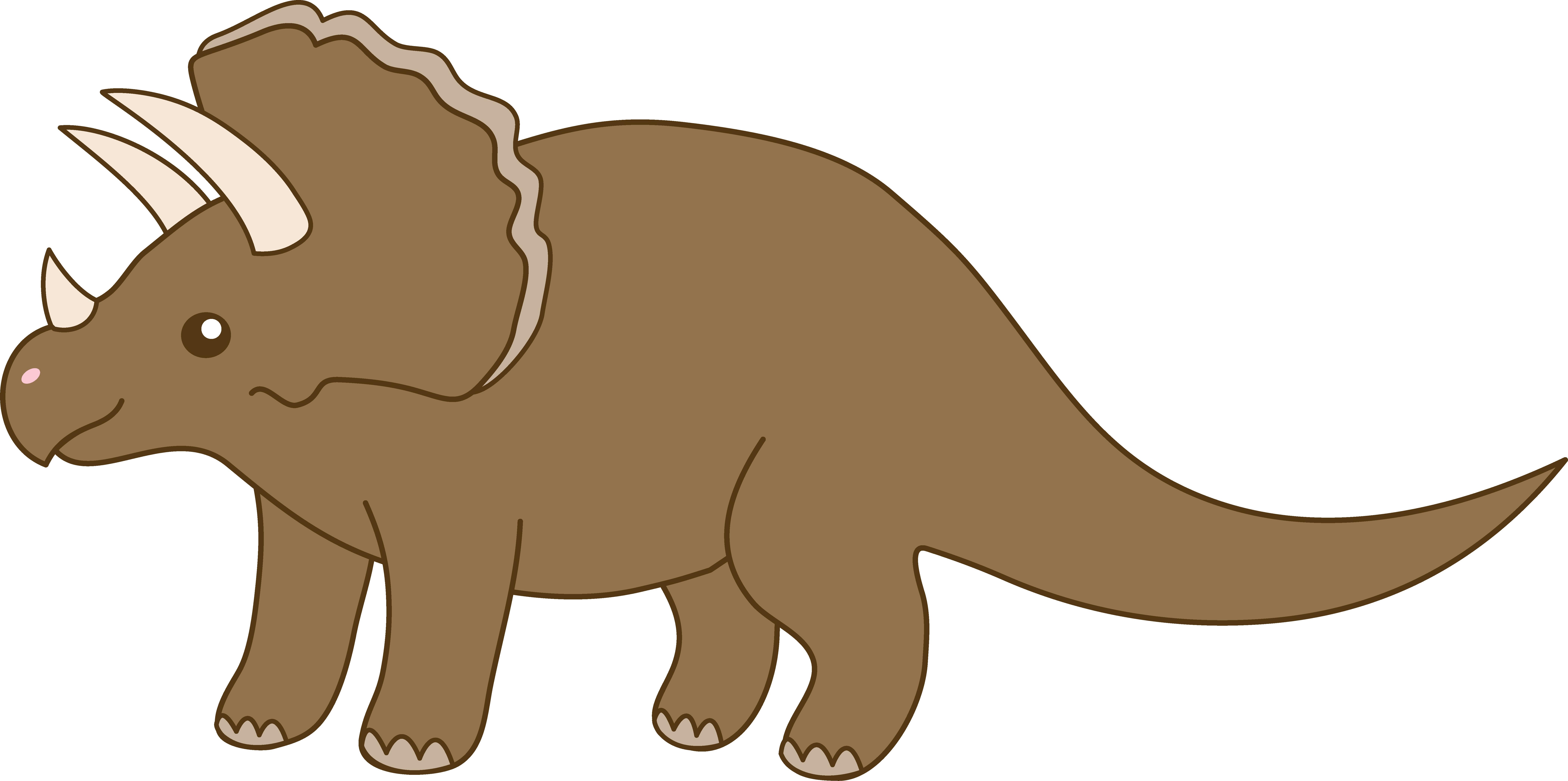 Dinosaur vector . Head clipart triceratops
