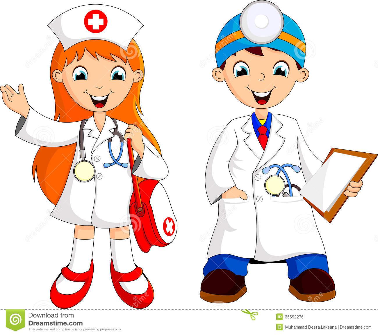 Cute doctor . Doctors clipart