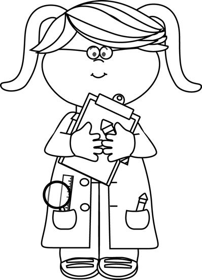 Kid clip art library. Doctor clipart black and white