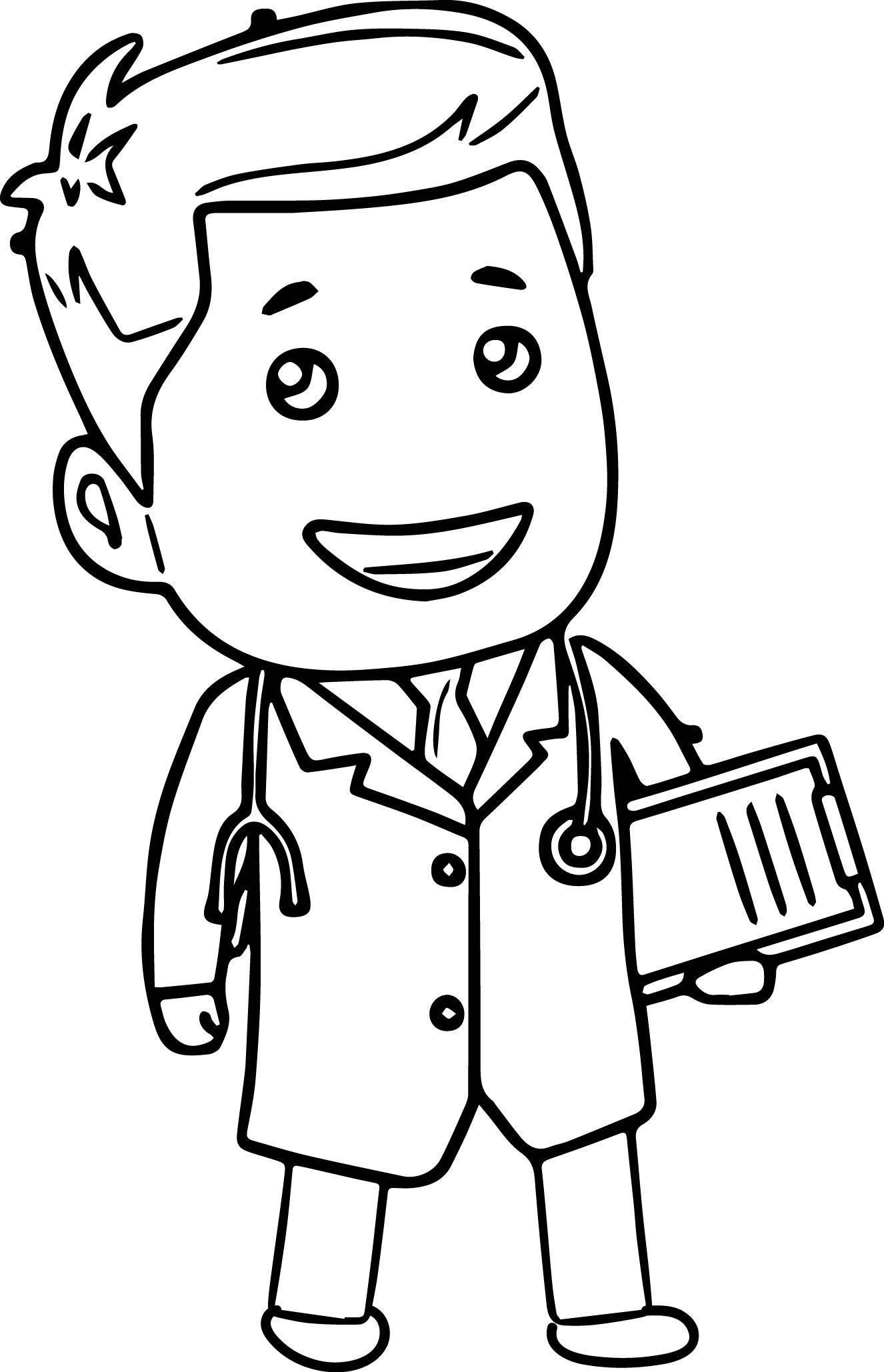Clipart doctor black and white. Free download clip art