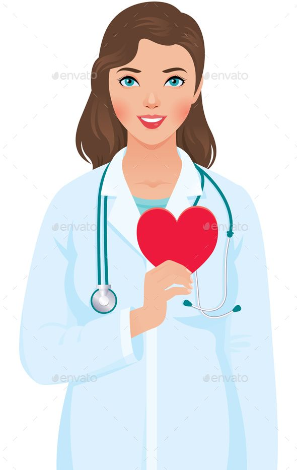 Clipart doctor cardiologist. Woman i hold heart