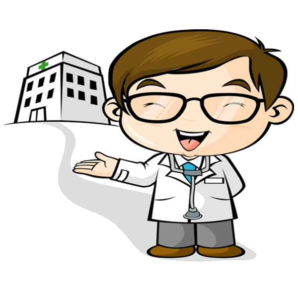 Funny cartoon . Doctor clipart scientist