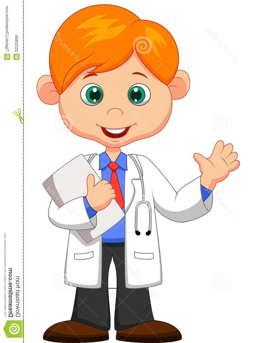 Unique cartoon clip art. Moving clipart doctor