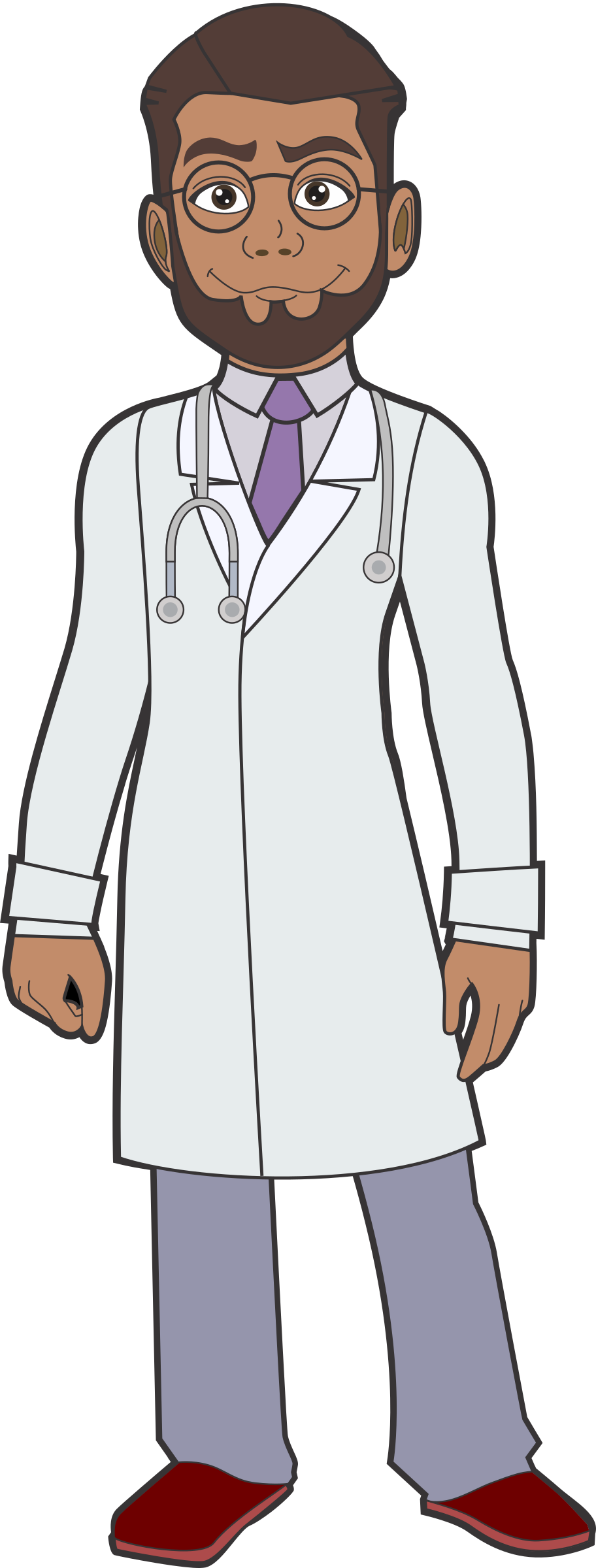 Doctors clipart white coat. African doctor big image
