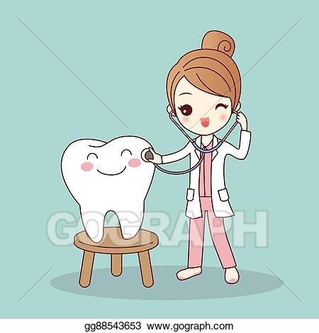 Doctors clipart dentist. Vector stock cartoon doctor