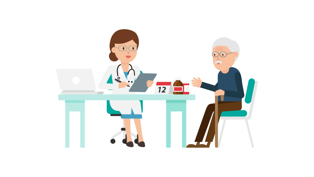 File doctor with cartoon. Patient clipart patient education