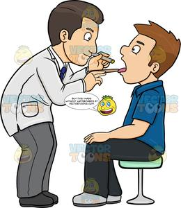Clipart doctor doctor patient. A checking the throat