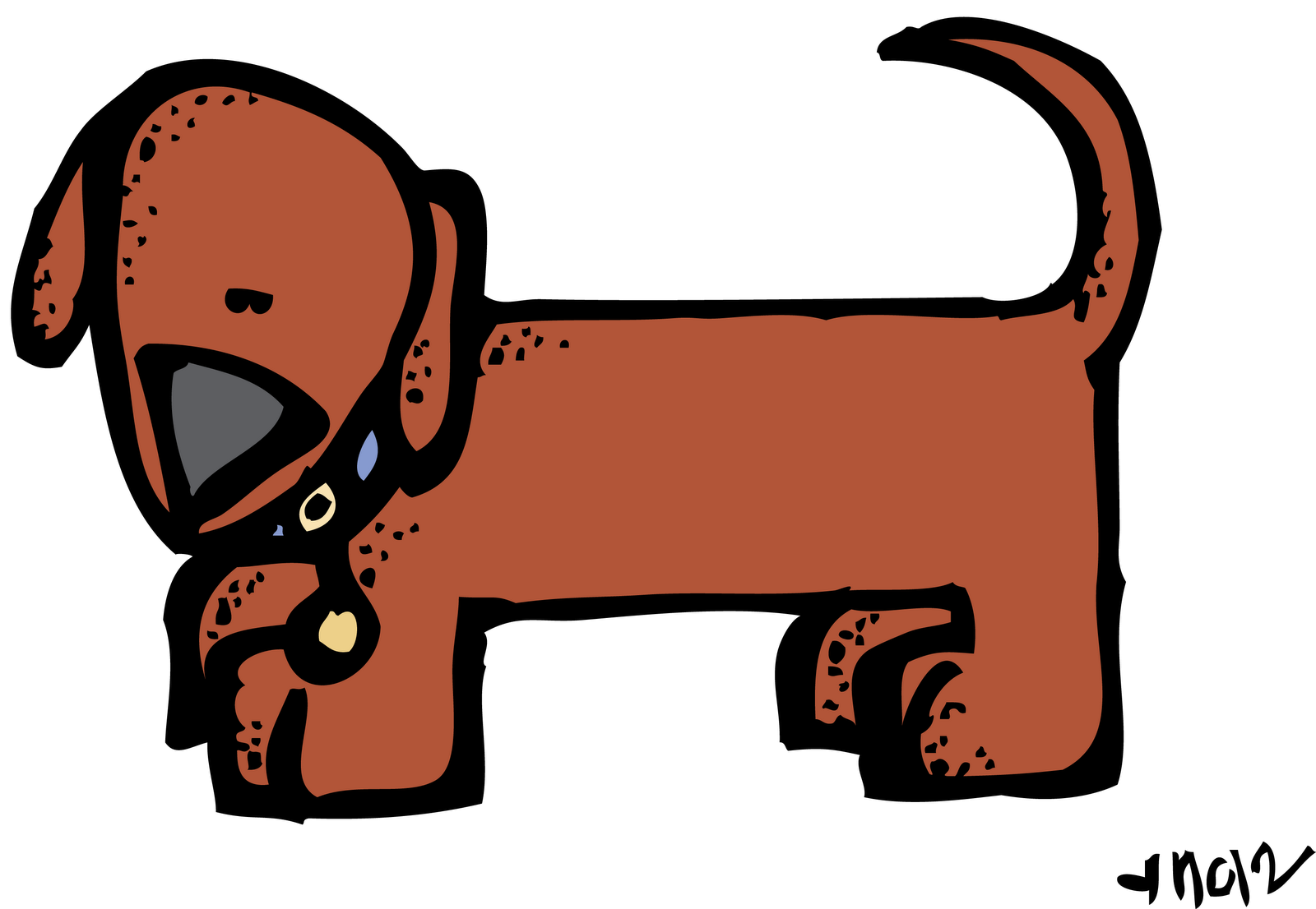 Clipart winter puppy. Melonheadz a request from