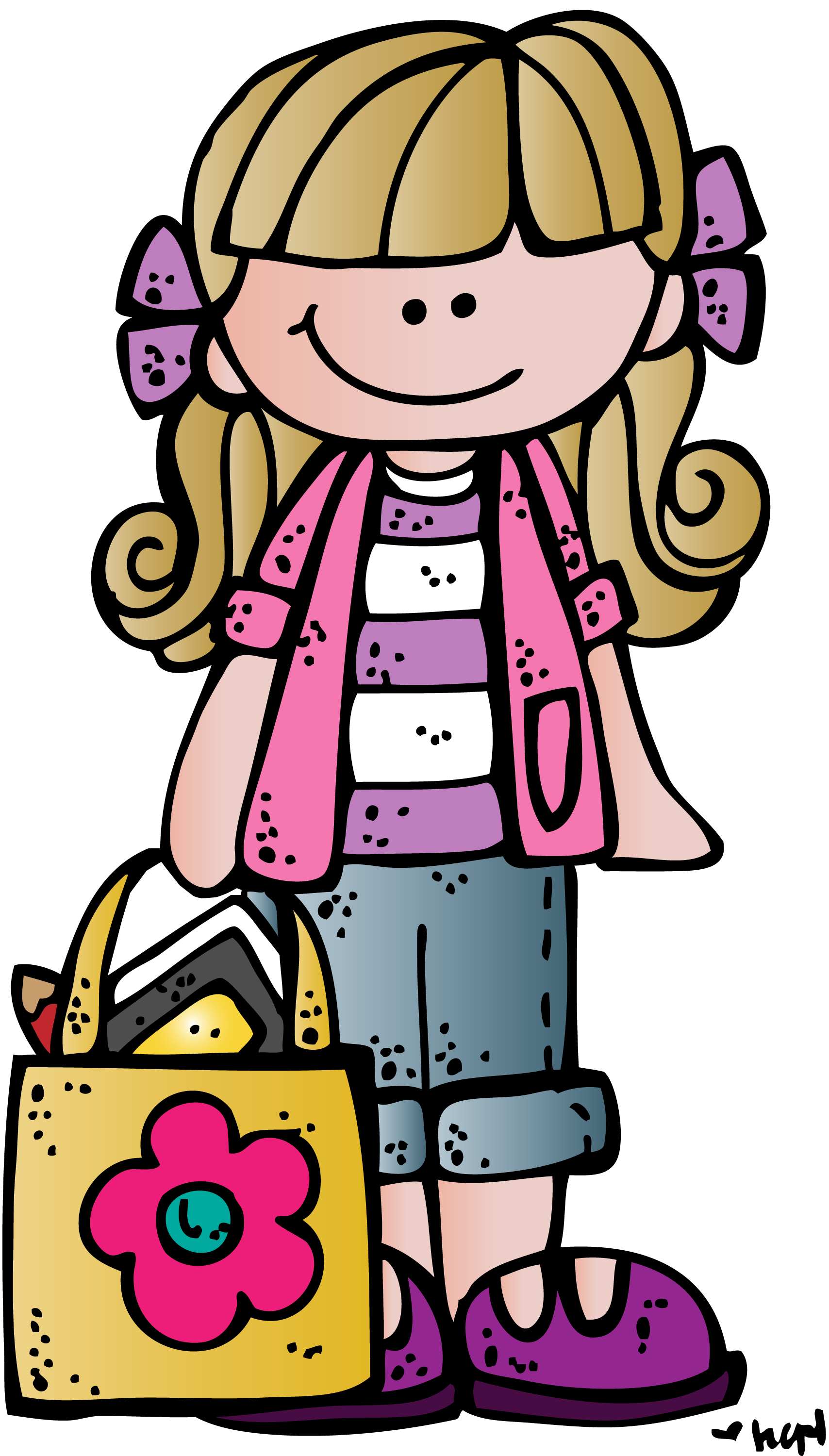 Girl bpk c illustrating. Melonheadz clipart christmas