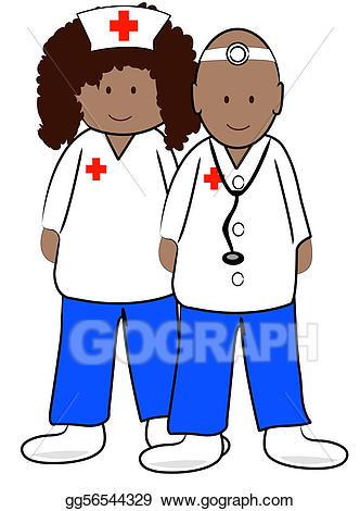 Doctor clipart ethnic. Stock illustration male and