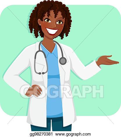 Clipart doctor female doctor. Vector black illustration