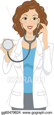 Clipart doctor female doctor. Vector illustration eps gg