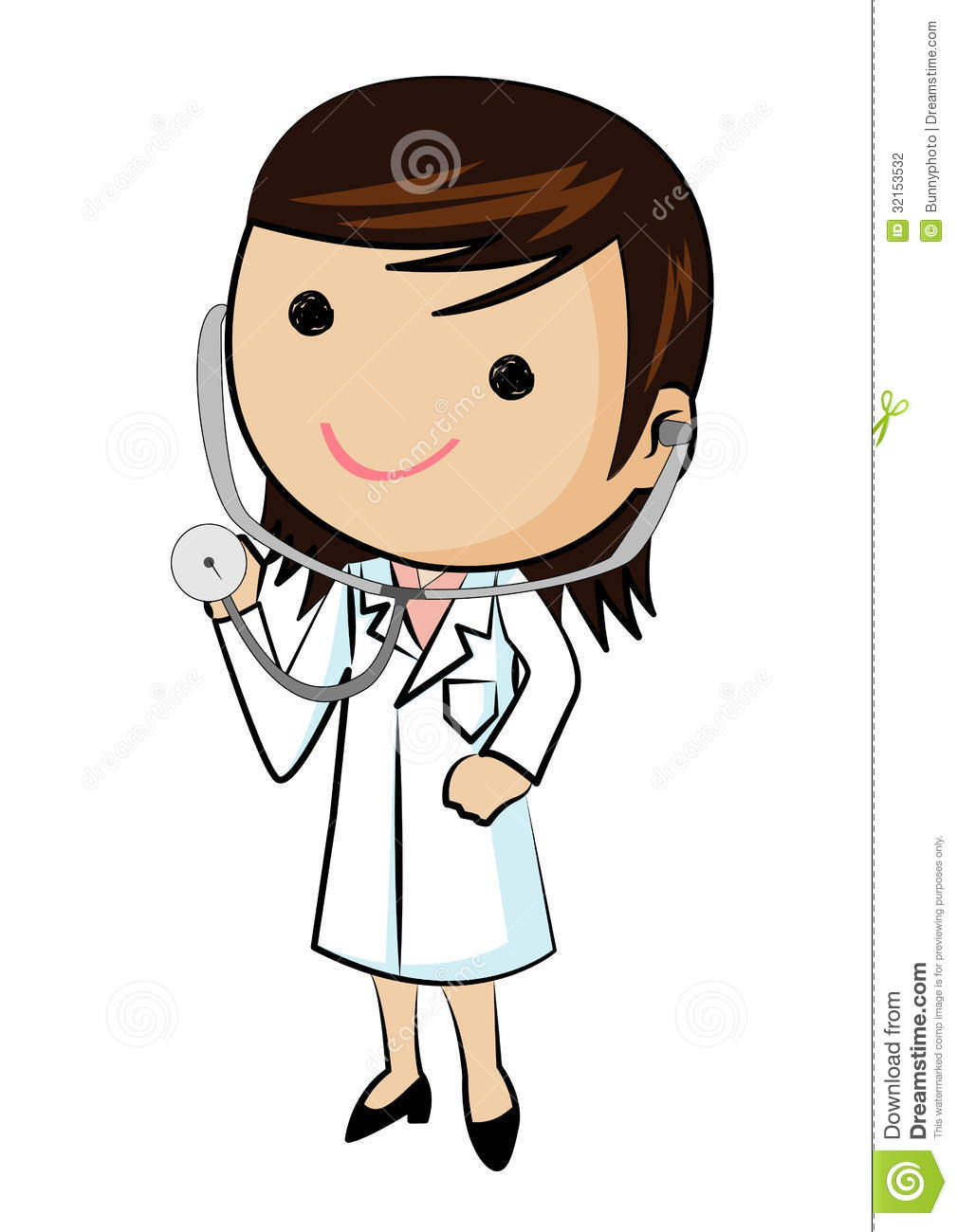 Wearing panda free images. Clipart doctor female doctor