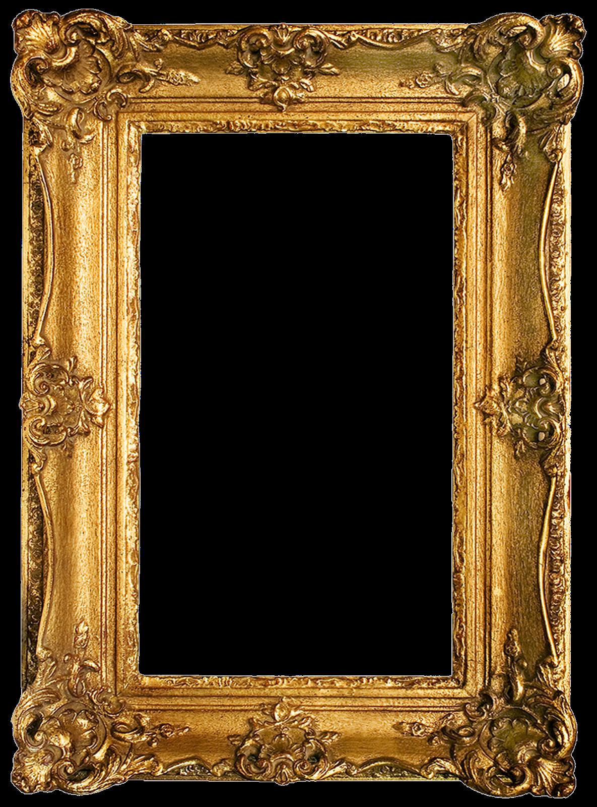 Vintage gilded frames free. Gold picture frame png