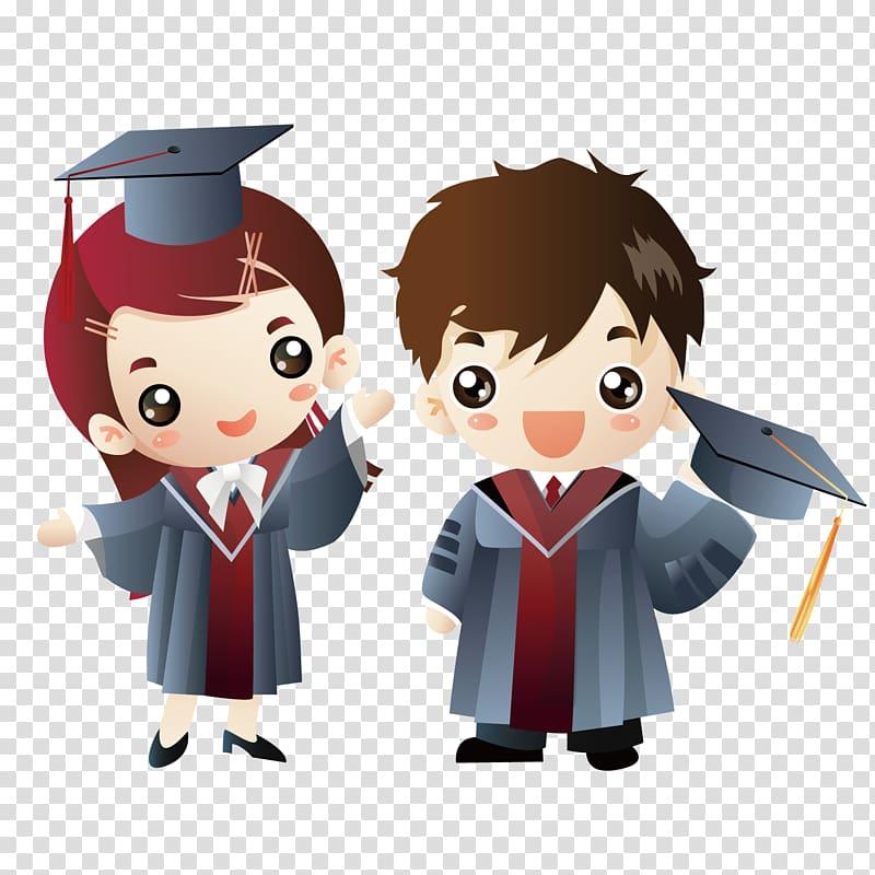 Graduation clipart doctor. Ceremony cartoon doctorate cute
