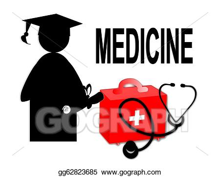 Stock illustration doctor md. Diploma clipart medical degree