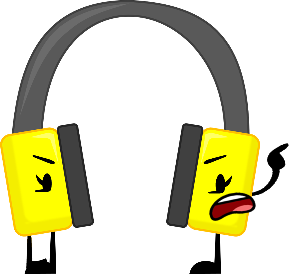 Headphones clipart comic. Image headphone new pose