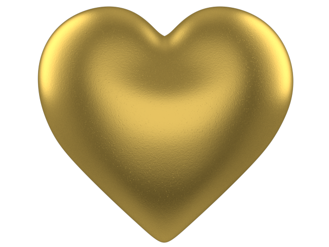 Gold heart diy greeting. Valentine clipart anniversary