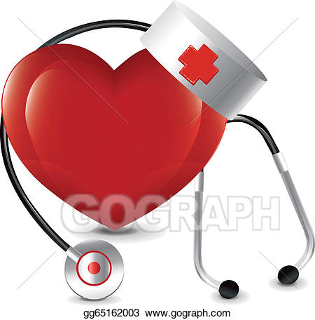 Eps vector stock illustration. Clipart doctor heart