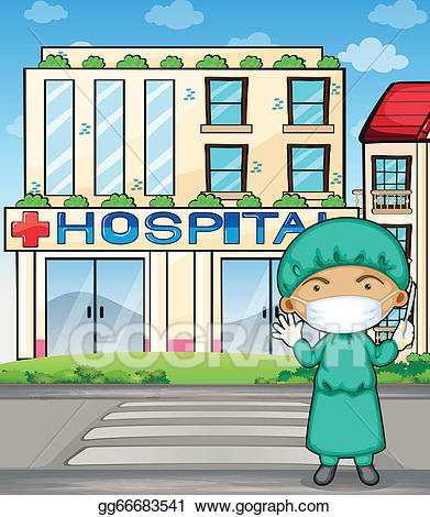 Clipart doctor hospital doctor. Vector stock a in