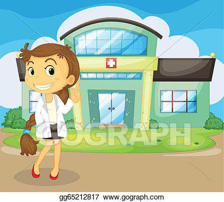 Vector stock a in. Clipart doctor hospital doctor