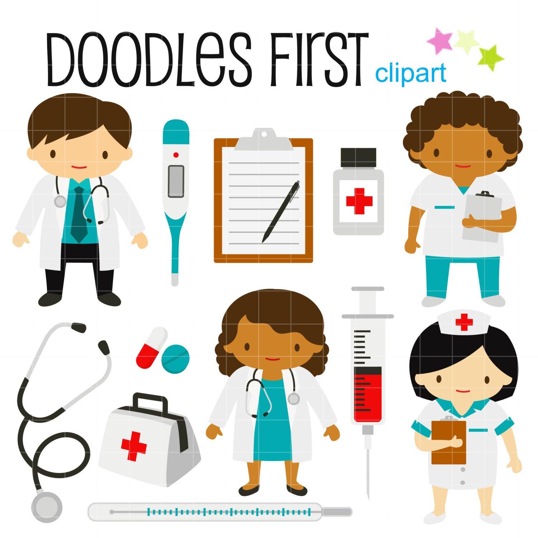 Little doctors and nurses. Nurse clipart accessory