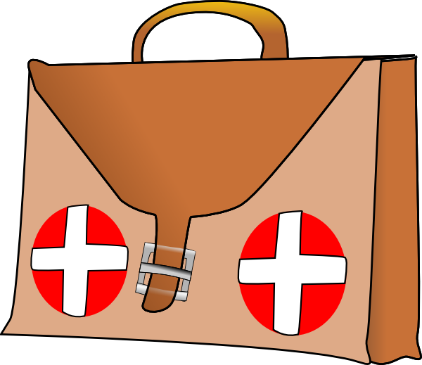 First aid kit clip. Emergency clipart collage