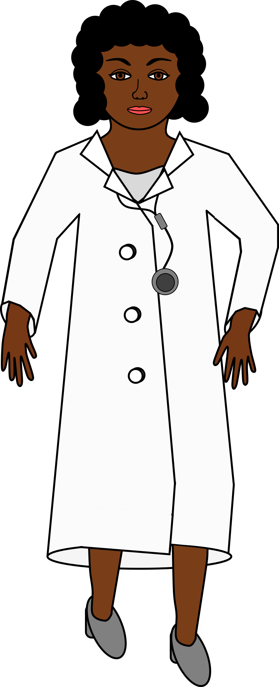 A with stethoscope big. Nursing clipart doctor