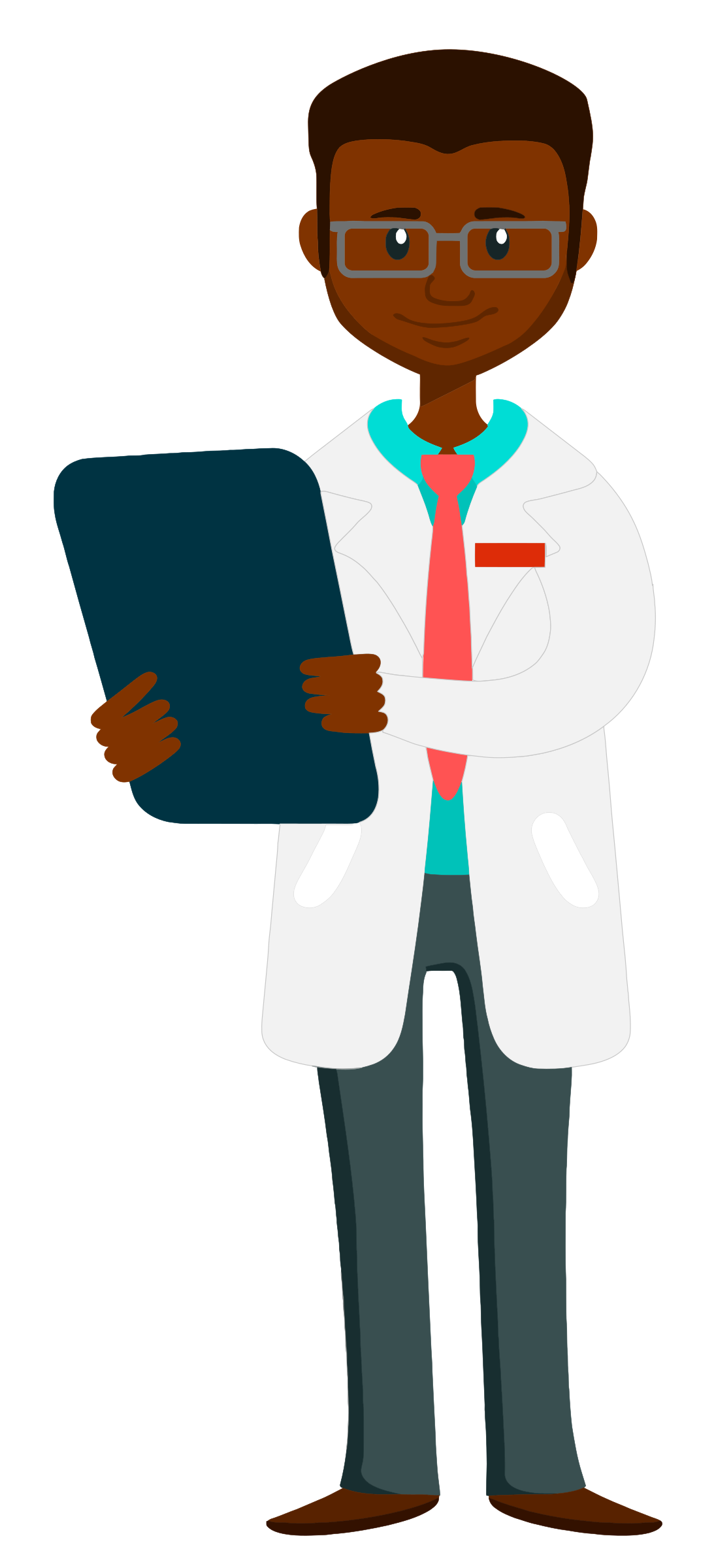 Professional clipart healthcare professional. Doctor holding clipboard big