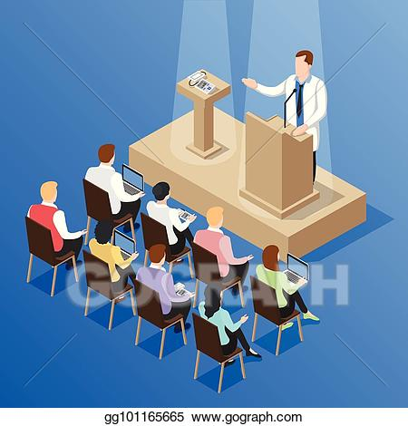 Vector stock doctors talk. Conference clipart medical conference