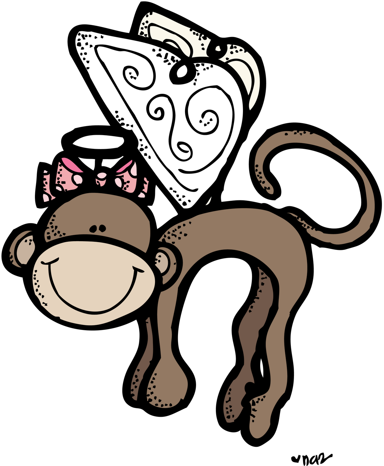 Melonheadz flying . Clipart doctor monkey
