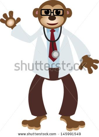 Monkey station . Monkeys clipart doctor