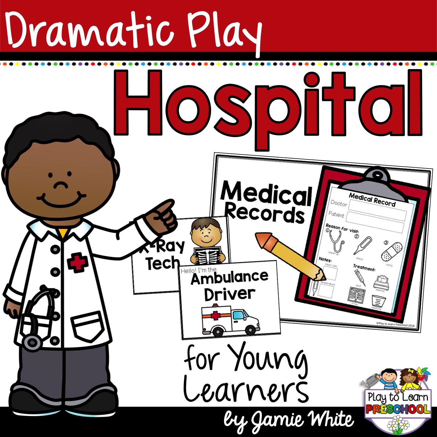 Clipart doctor preschool. Hospital dramatic play paging