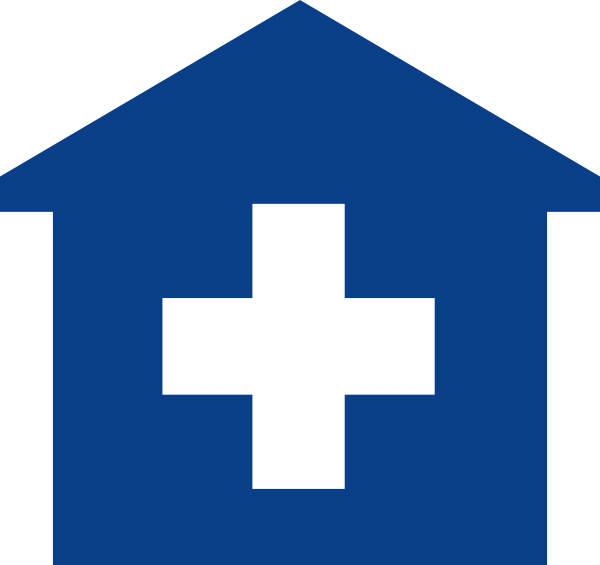 Doctor clipart primary care physician. Blue medical home clip